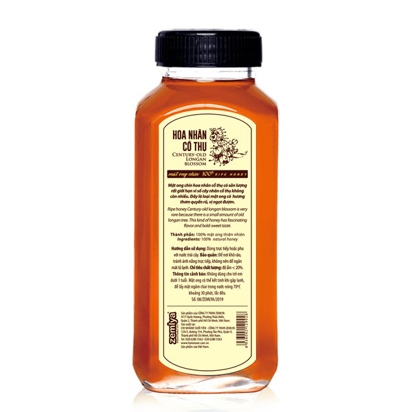 Thông tin chi tiết sản phẩm mật ong chín Honimore Hoa nhãn cổ thụ 500g