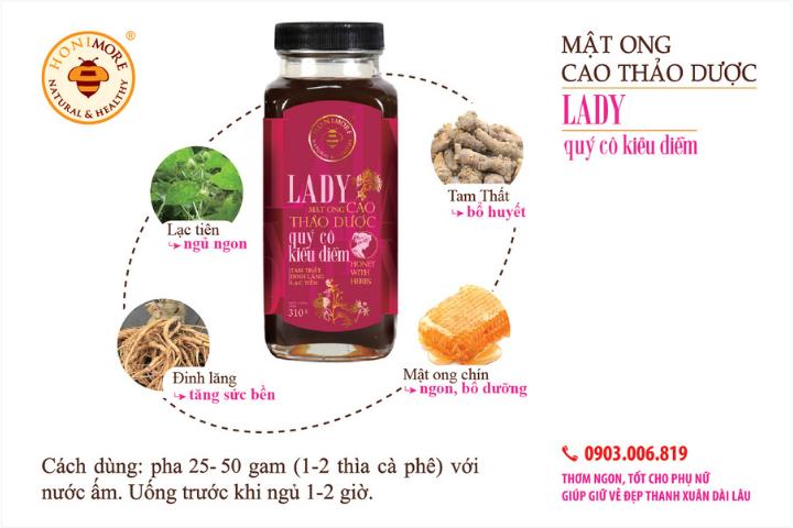 Công dụng mật ong rừng cao thảo dược Lady