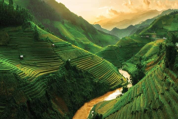 Khu vực quay mật tại núi cao Hà Giang