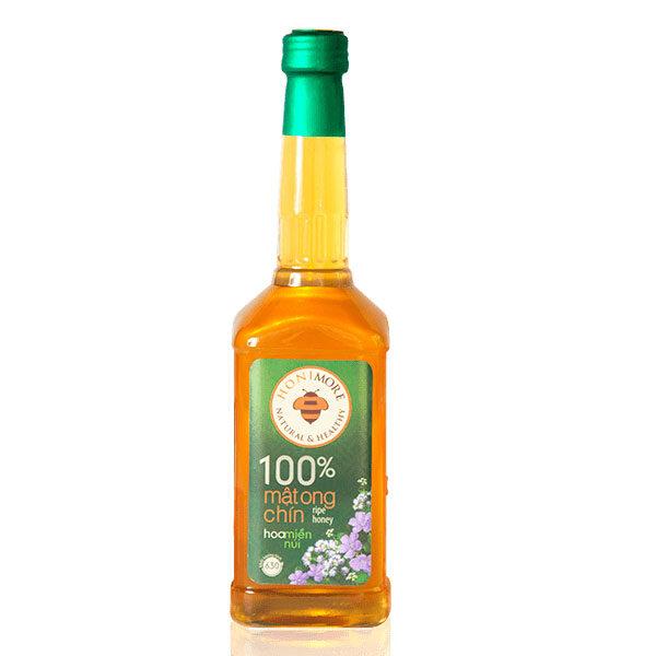 Mật ong chín Honimore Hoa Miền Núi - mật ong rùng nguyên chất chai 630g