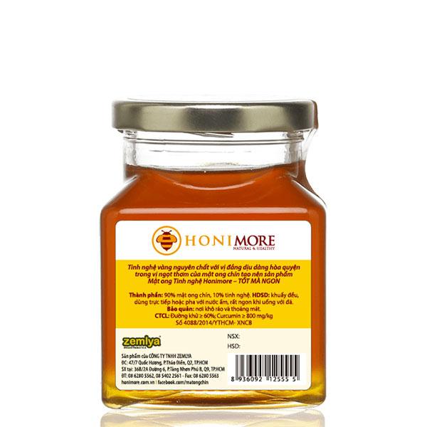 Chi tiết mật ong tinh nghệ Honimore 360g