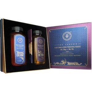 Hộp quà bộ đôi hoàn hảo mật ong chín Honimore Cha Rồng + Mẹ Tiên