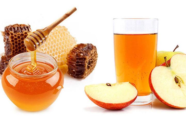 Mật ong kết hợp với giấm táo
