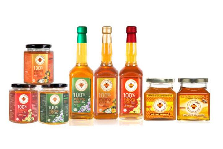 Các sản phẩm mật ong Honimore