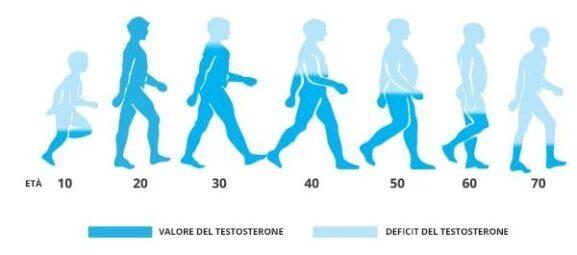 Nồng độ testosterone theo độ tuổi