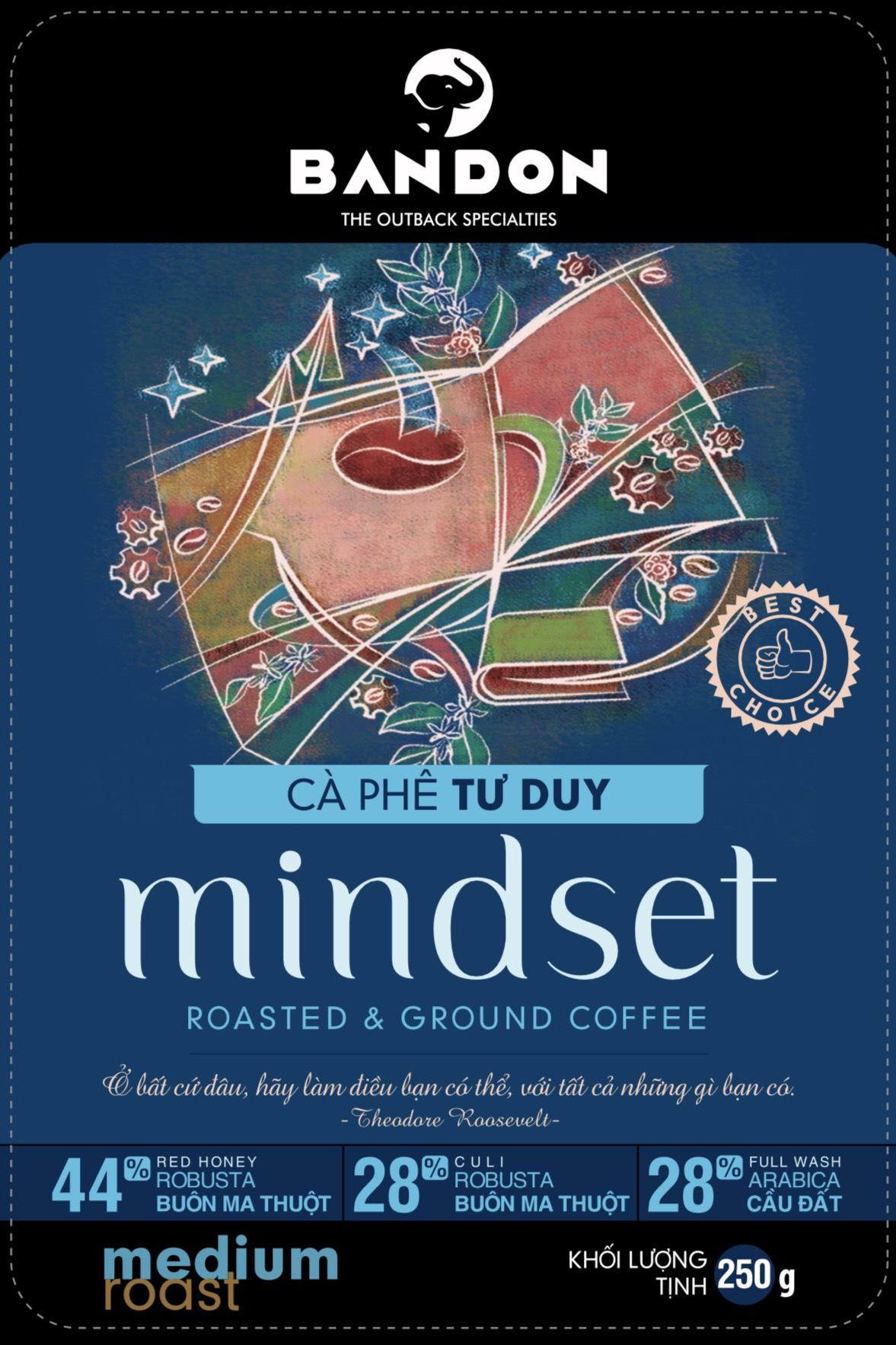 Cà phê phin Bandon Mindset 250g - cà phê Tư duy