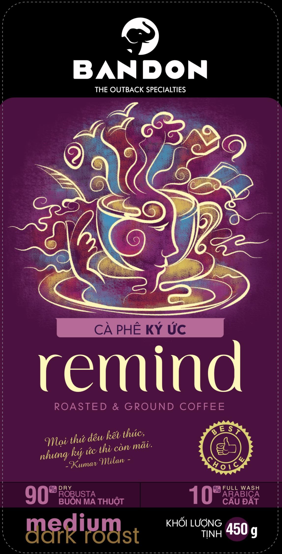 Cà phê phin Bandon Remind 450g - cà phê Ký ức