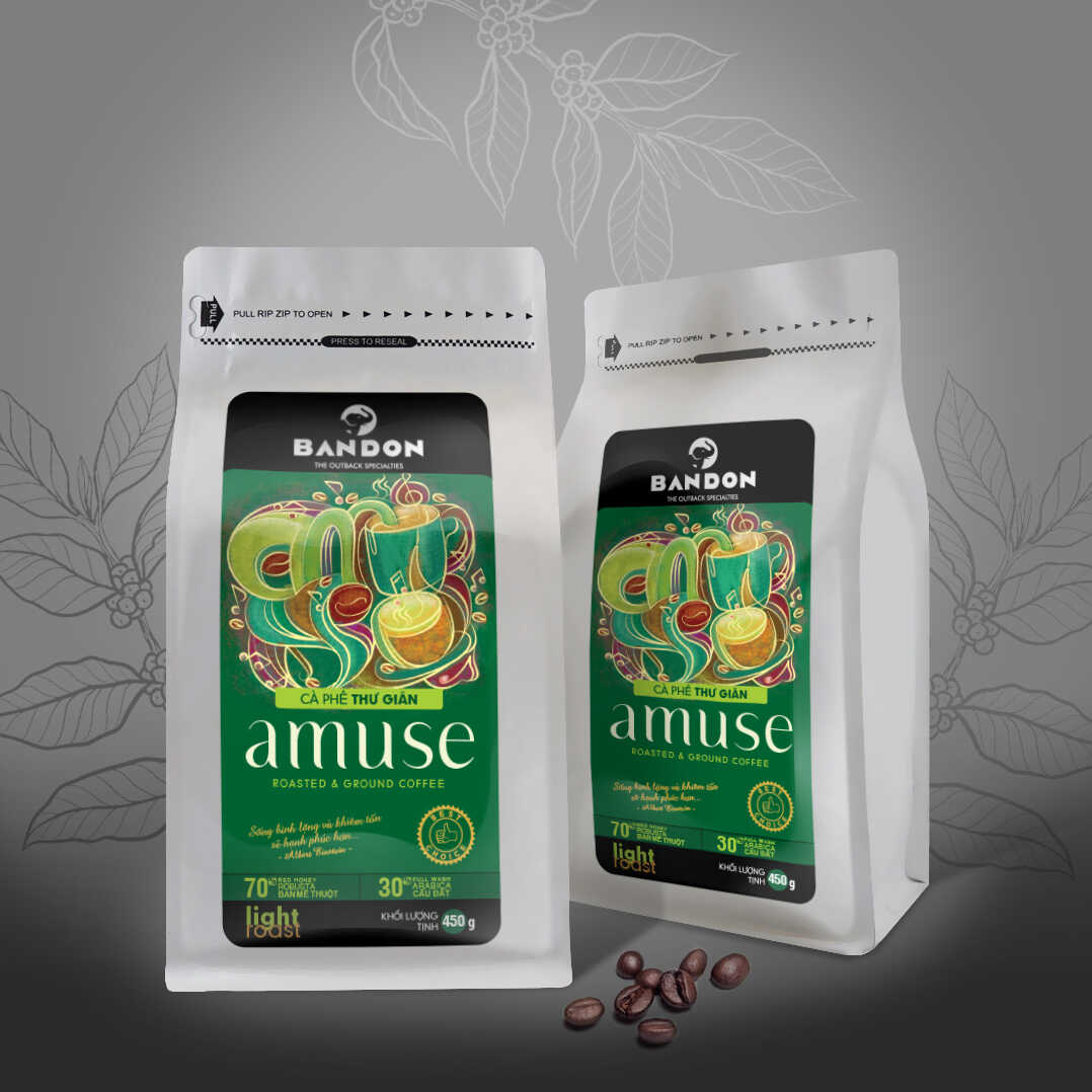 Cà phê phin Bandon Amuse 450g - cà phê Thư giãn