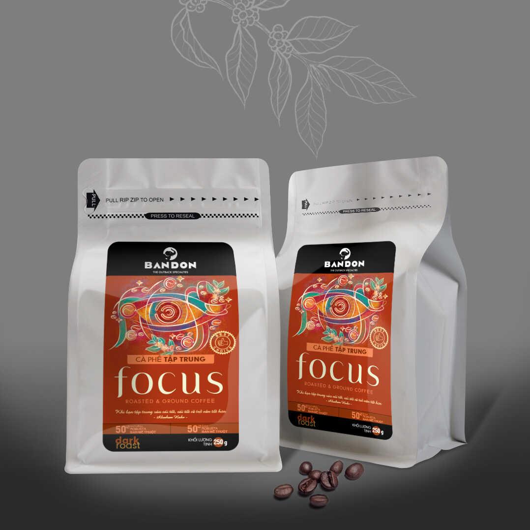 Cà phê phin Bandon Focus 250g - cà phê Tập trung