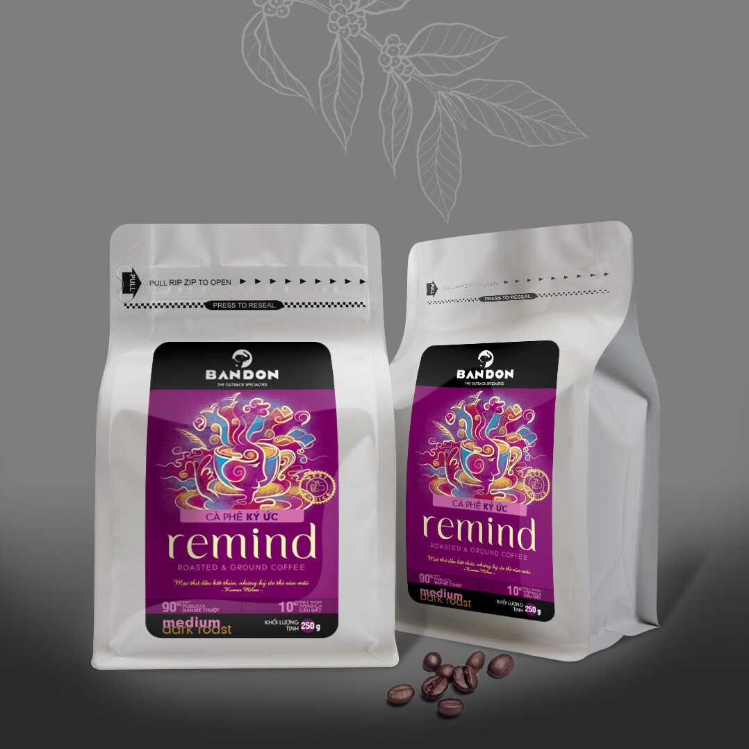 Cà phê phin Bandon Remind 250g - cà phê Kỳ ức