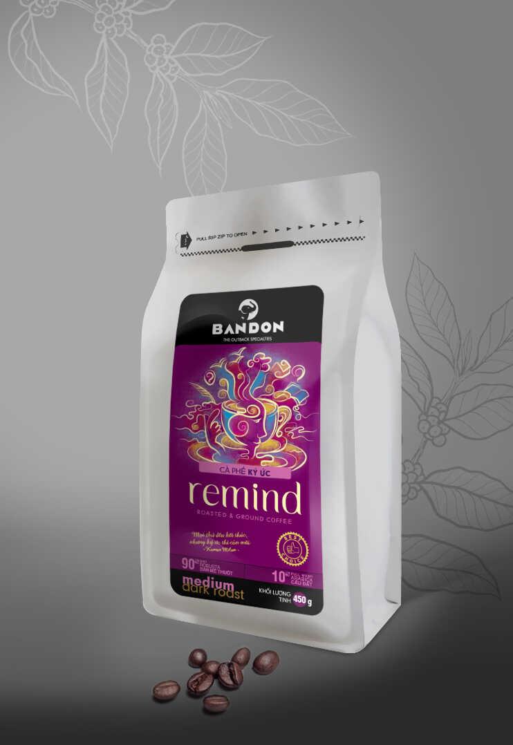 Cà phê phin Bandon Remind 450g - cà phê Kỳ ức